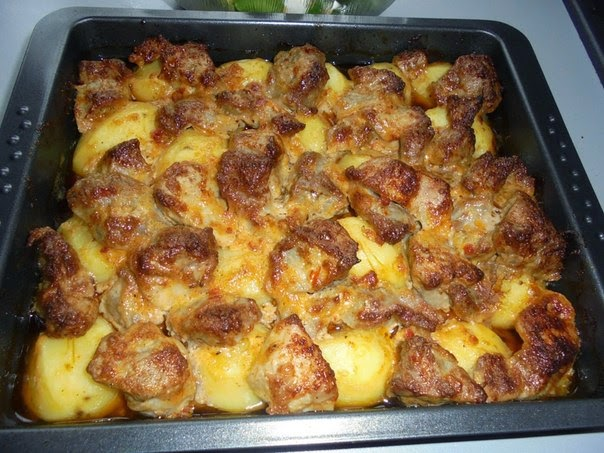 Свиная шея в духовке с картошкой рецепты с фото