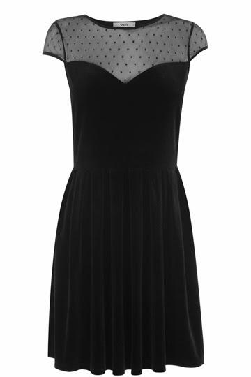 spot sheer dress