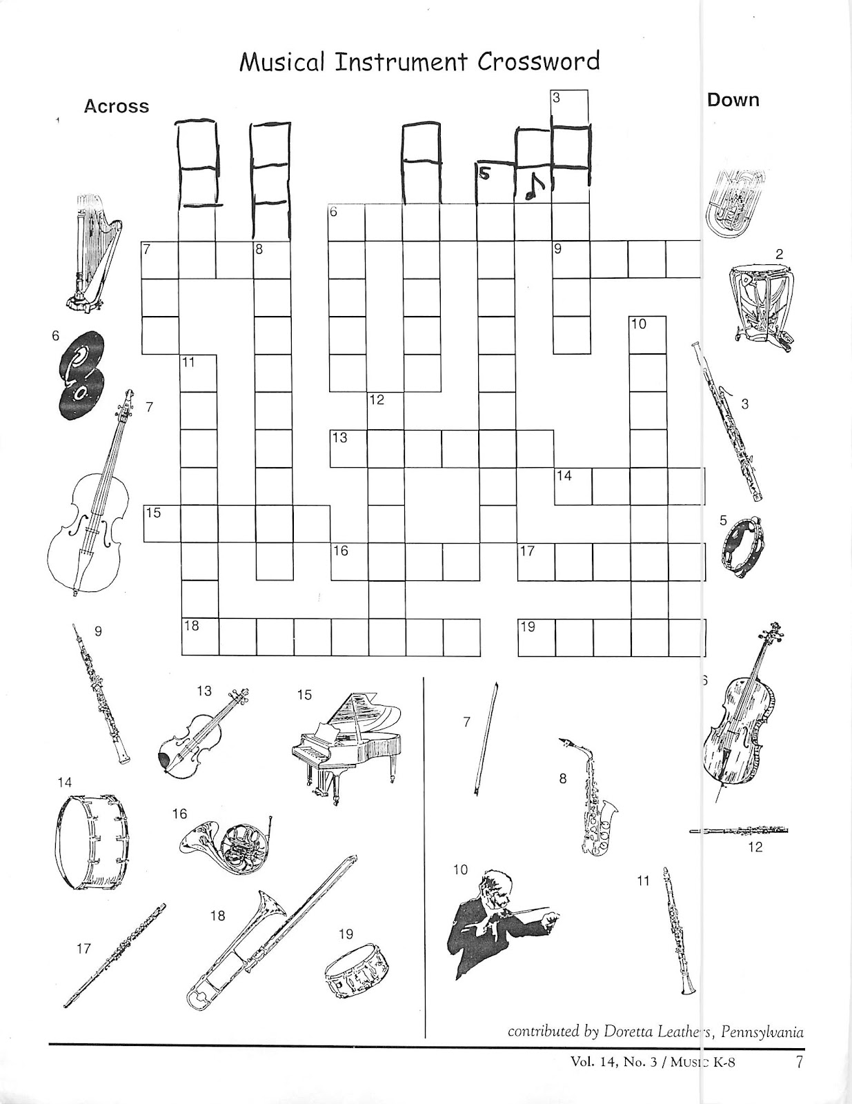 miss jacobson 39 s music identifying names of percussion instrument worksheet. Black Bedroom Furniture Sets. Home Design Ideas