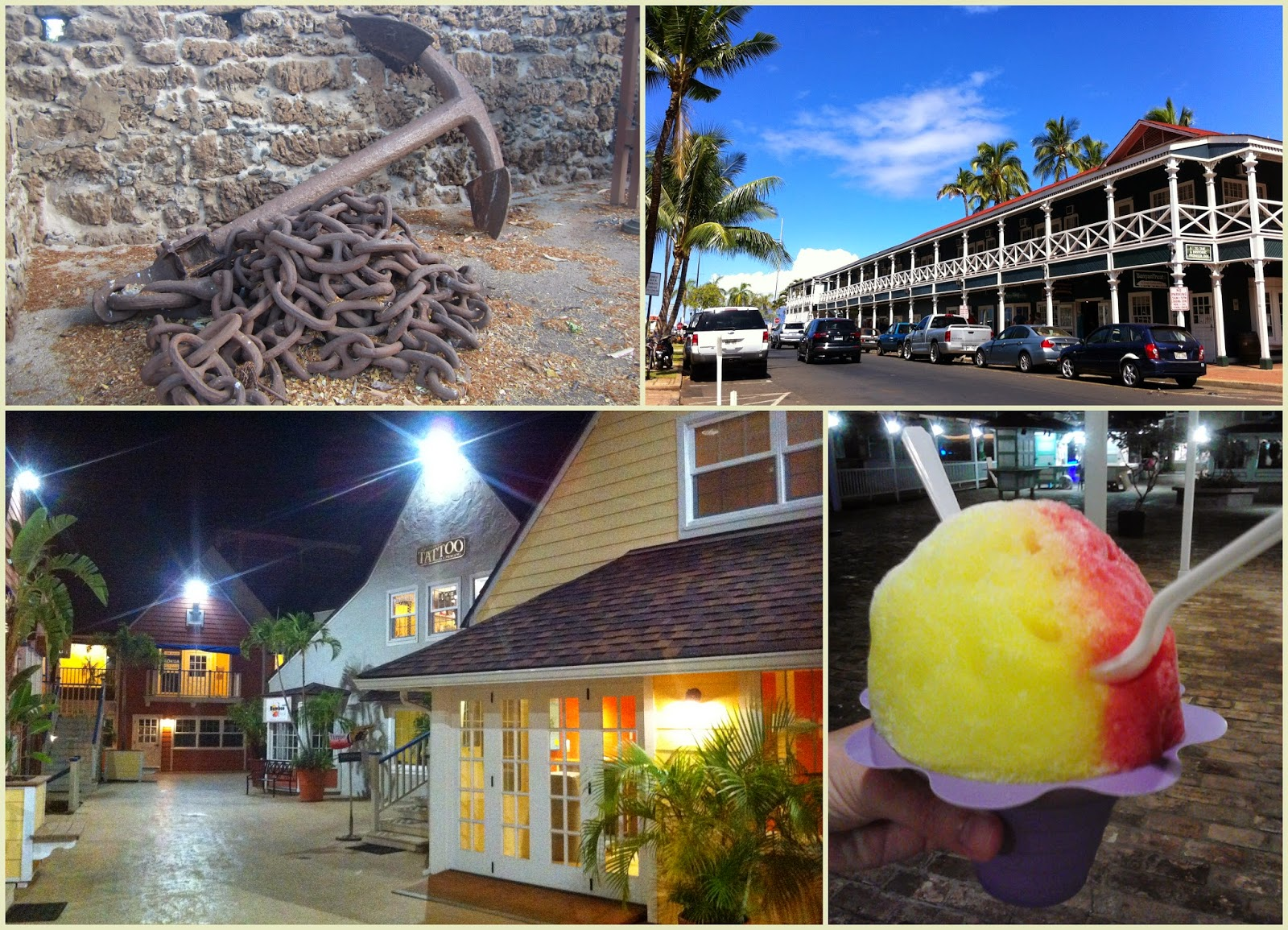 Lahaina, whales town. Shave ice Maui