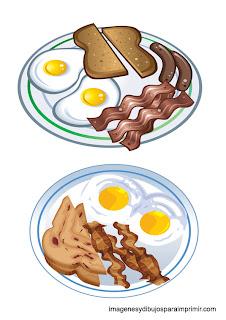 huevos fritos con bacon,salchichas y carne