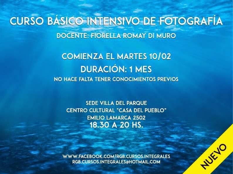 El martes 10/02 empieza el Curso Básico Intensivo de Fotografía.