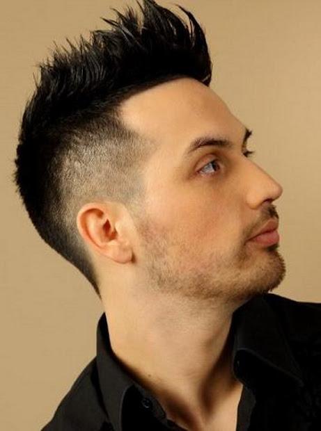 mohawk haircut 2013 man black
