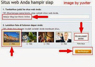 Panduan cara membuat blog di 123website
