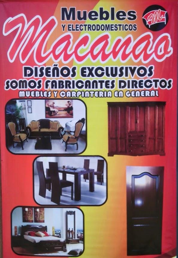 MACANAO, PUNTO DE FABRICA. PRECIOS SIN COMPETENCIA EN EL CENTRO DEL VALLE.
