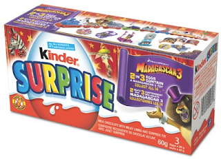 Box of Special Madagascar 3 themed Kinder Surprise Eggs