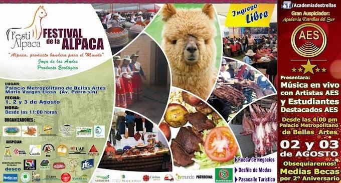 Festival de la Alpaca, Festi Alpaca 2014 - 01,02 y 03 de agosto