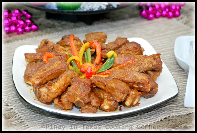 Stir Fried Pork Spare Ribs with Bell Pepper and Green Onions and Macy ...