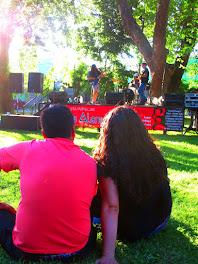 Reunión familiar en Fiesta Popular La Alameda