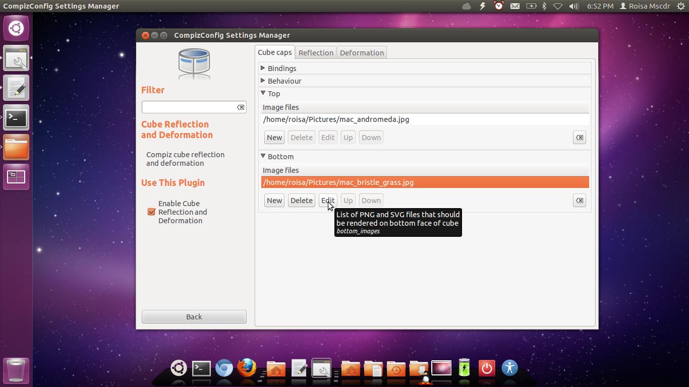Ativar cubo transparente da 0e1rea de trabalho + janelas gelatinosas no ubuntu outros derivados