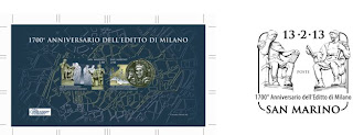 San Marino: 1700th anniversary of the Edict of Milan