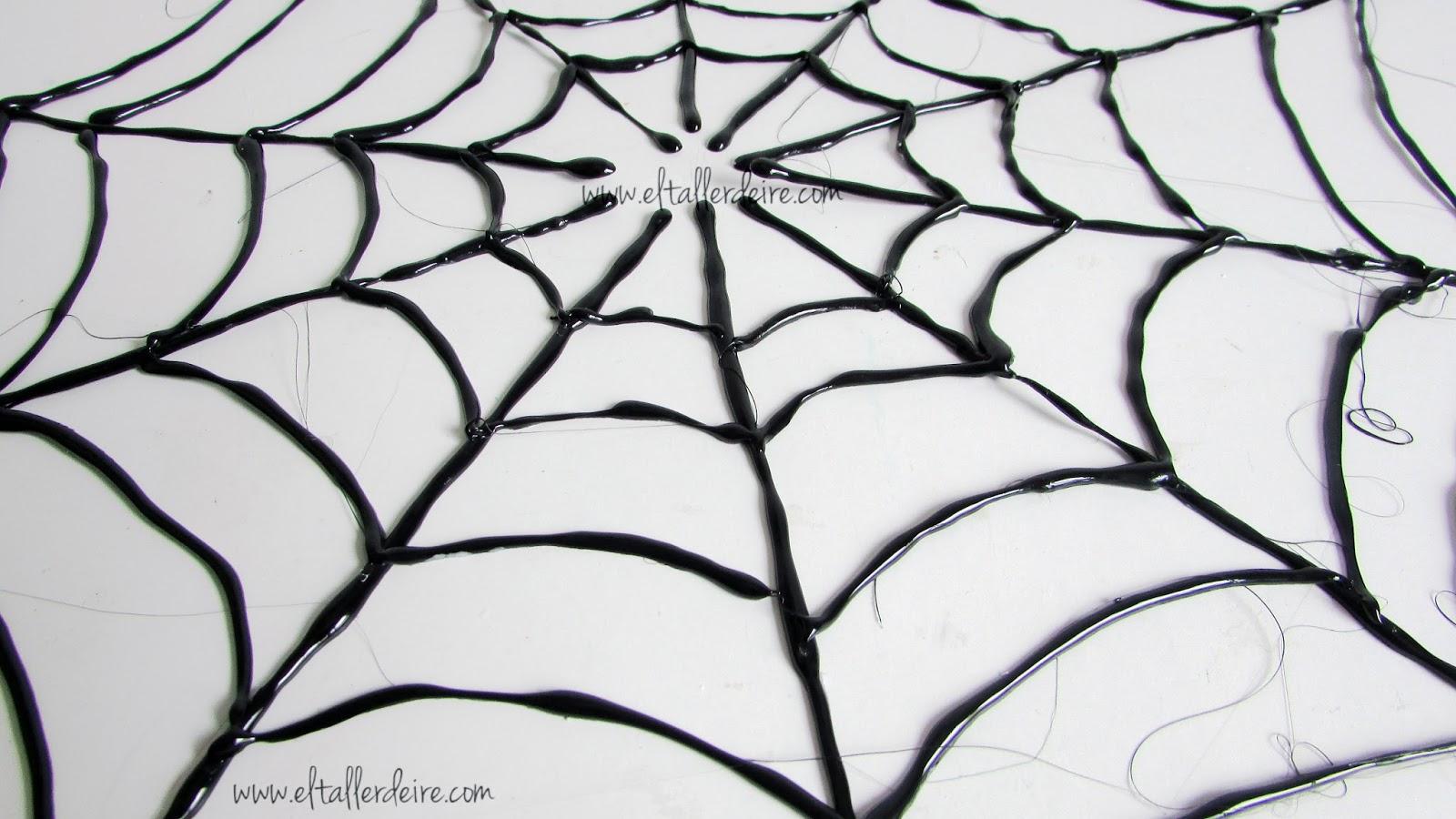 Especial halloween c mo hacer una telara a decorativa - Como hacer tela de arana ...