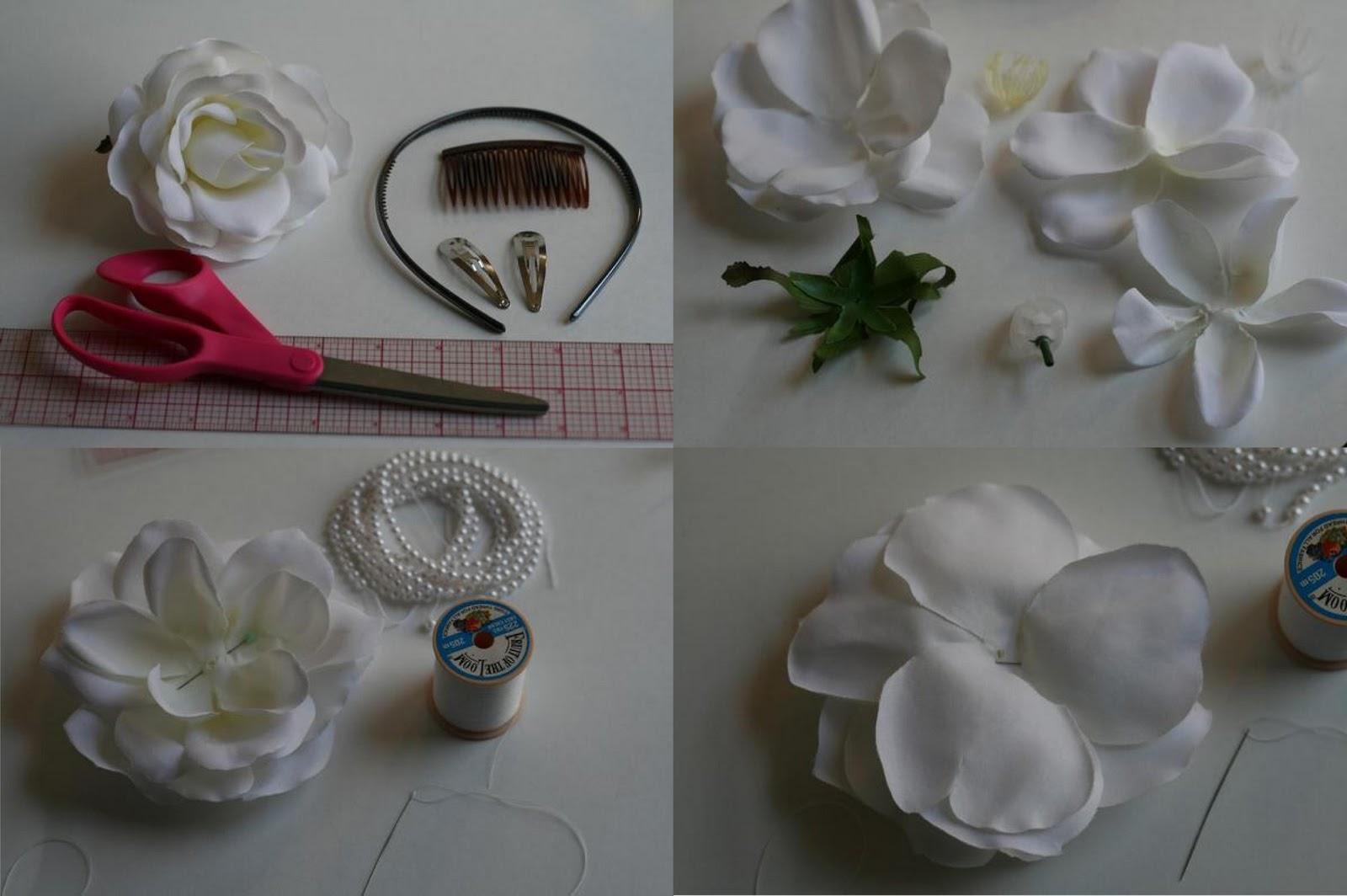 El club de la familia novias c mo hacer una flor se tela - Como hacer un cabecero de tela ...