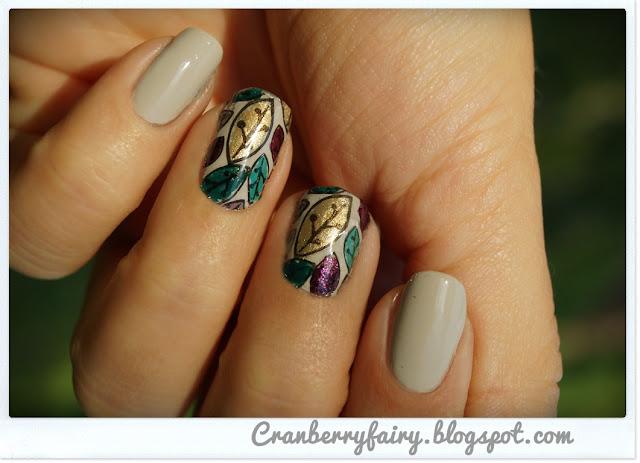liściaste paznokcie