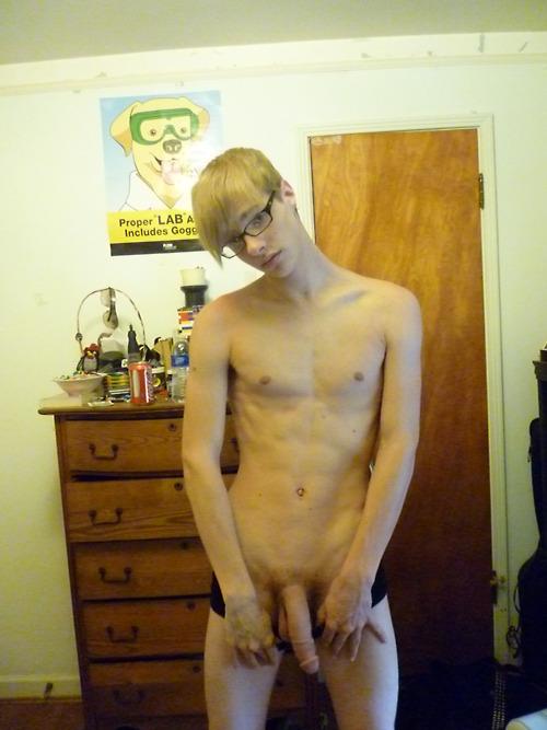 Skinny Nerd With Big Cock