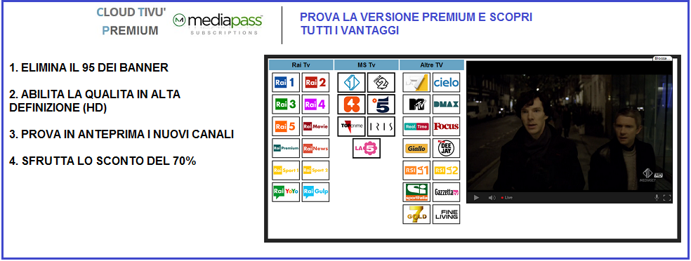 Cloud Tivù - PREMIUM