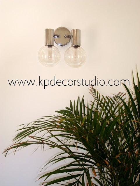 comprar apliques antiguos de cristal y metal cromado de estetica retro y color plateado