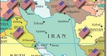 Geo Politics In South Asia And MENA - Map of us bases around iran