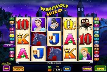 Werewolf poker machine