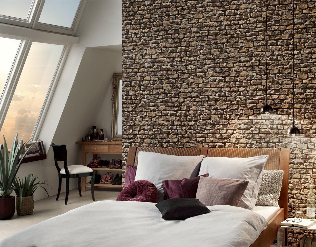 3 boyutlu duvar ka tlar wood 39 n stone 9079 12. Black Bedroom Furniture Sets. Home Design Ideas