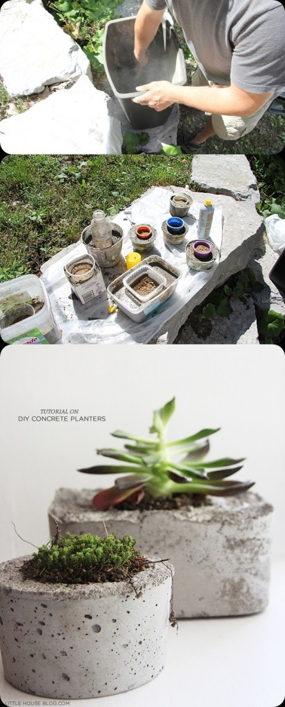 DIY : Make a Pot Planter from Concrete