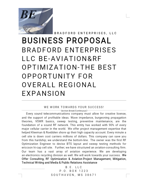 Bradford Enterprises LLC