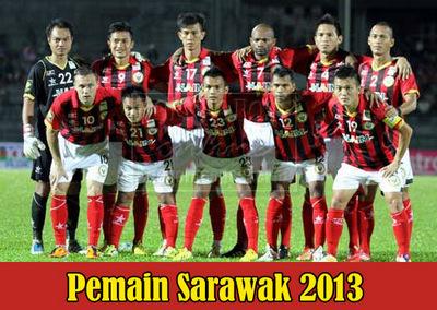 Senarai Pemain Bola Sepak Sarawak 2013