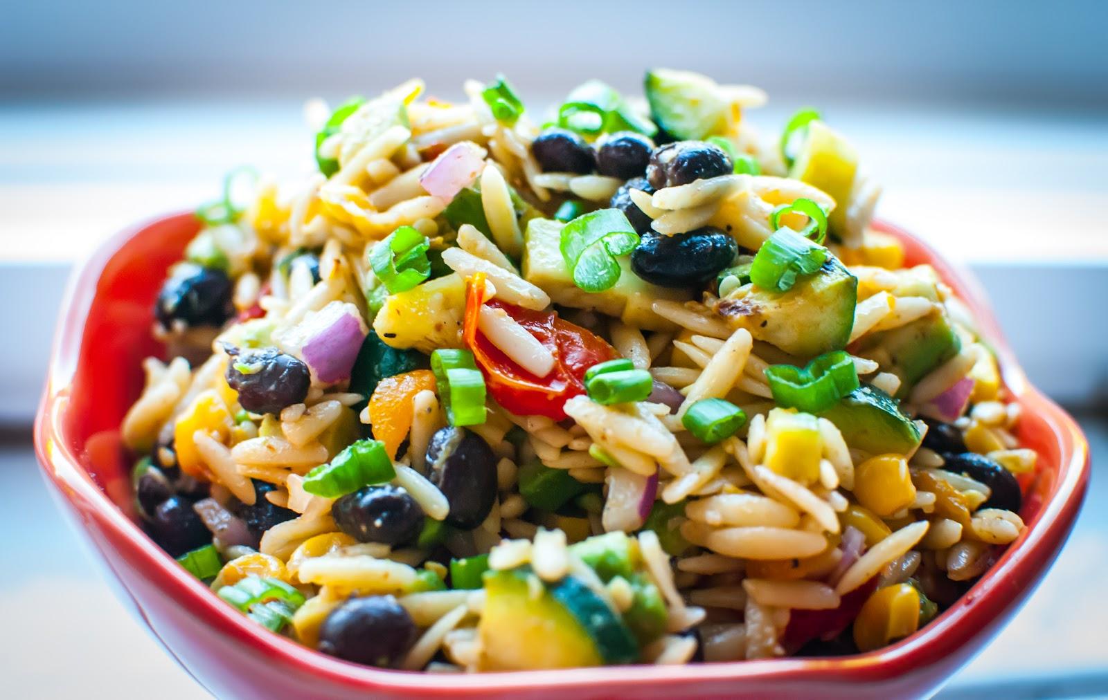 Food MischiefSriracha-Lime Summer Orzo Salad