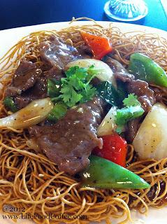 black pepper beef noodles