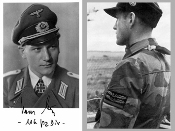 Les tenues allemandes en camouflage italien. Major2