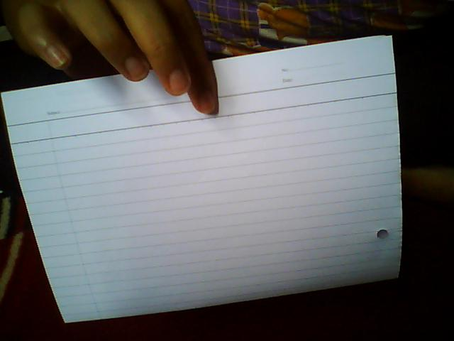 Cara buat nota kecil sebelum exam .