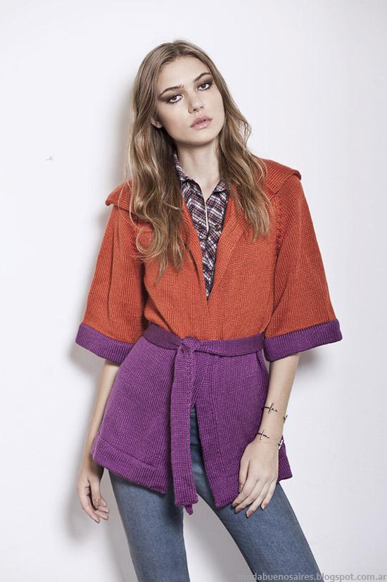 Florencia Llompart otoño invierno 2014. Moda sacos tejidos invierno 2014.