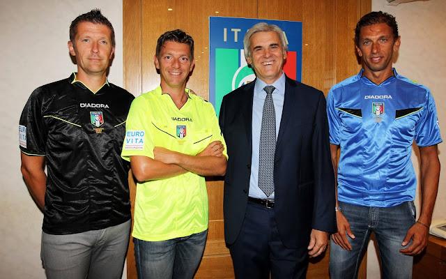 Los colegiados italianos estrenan sponsor
