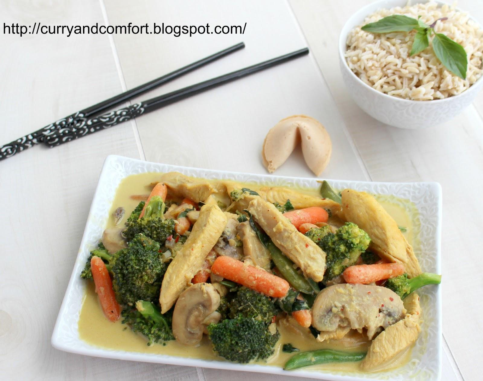 Kitchen Simmer: Thai Chicken Curry Veggie Stir Fry