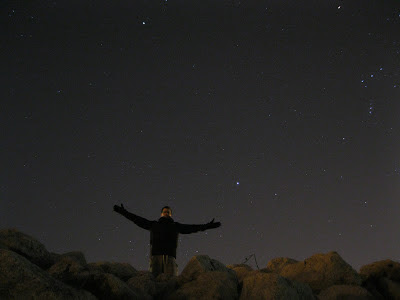rio jesus pose with stars in sky