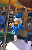 Donald Duck signing autographs