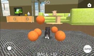 Screenshots of the Dog simulator for Android tablet, phone.