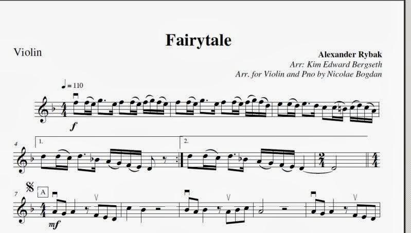 Пример нот
