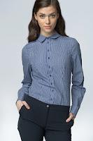 Camasa eleganta, de culoare bleumarin, cu maneci lungi si imprimeu in carouri ( )