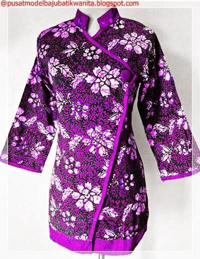 Gambar Baju Batik Gamis Di Sertai Blazer Itali Site Model