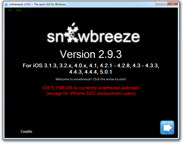 how to jailbreak ios 5.1 sn0breeze