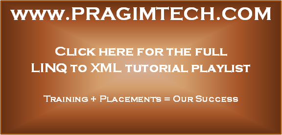 LINQ to XML tutorial
