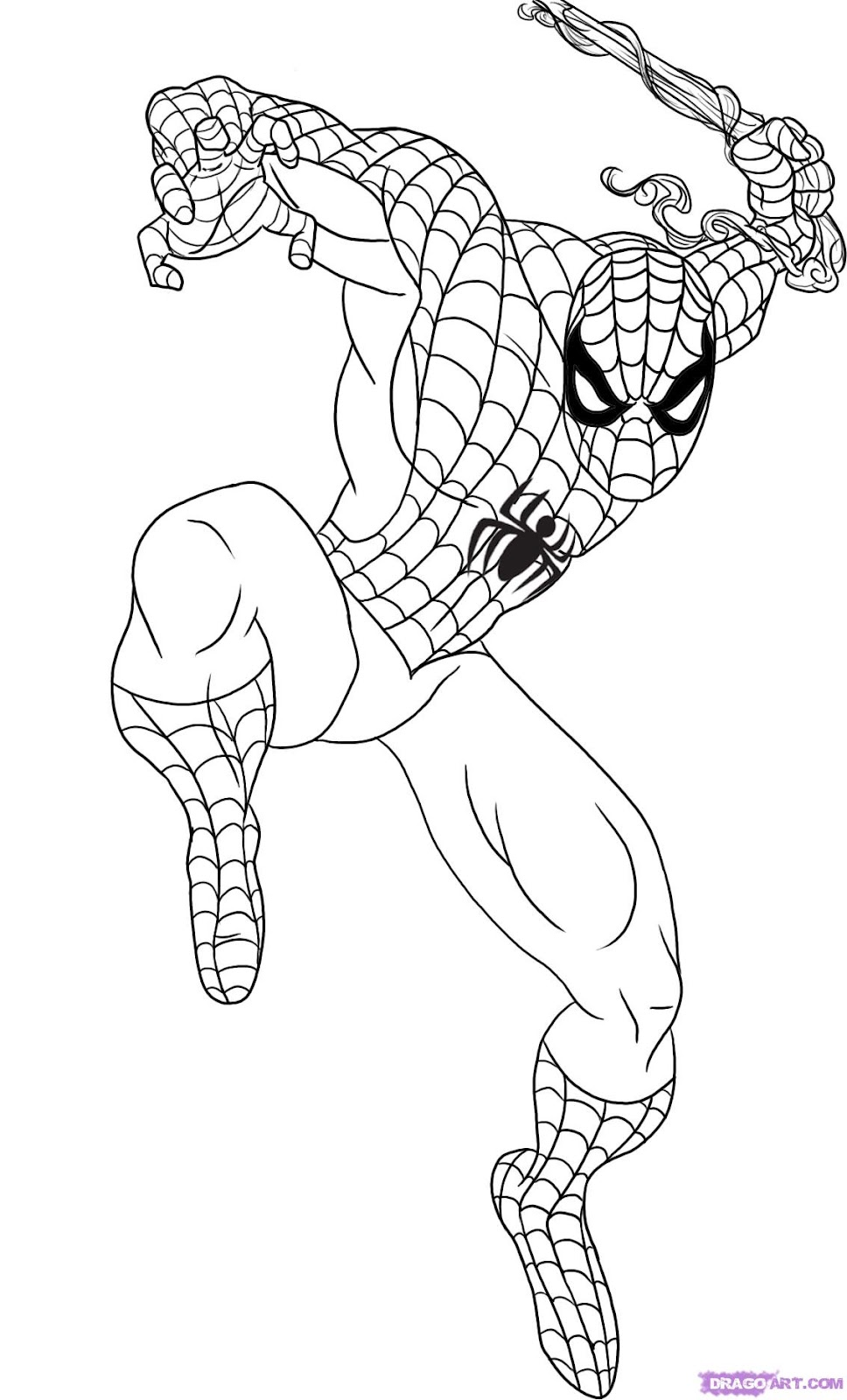 Spiderman Kids Coloring Pages Bullgallery