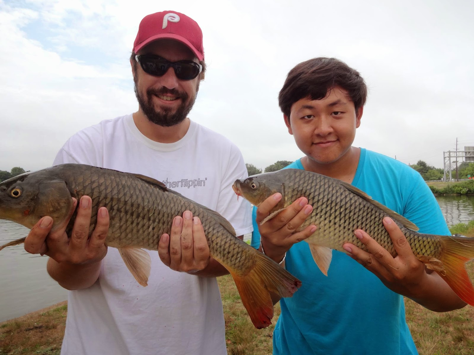 extreme philly fishing introducing the cooper river lake and the 15th 2012 my friend jay d and i holding our respective common carp at the cooper river lake during the warmer months it s not that uncommon to
