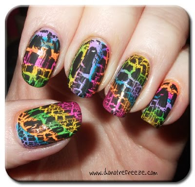 Rainbow nail salon designs
