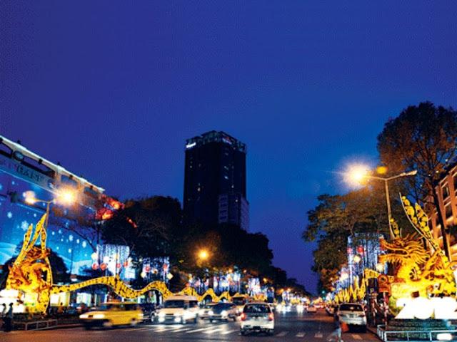 Tet Celebration avenues of Saigon