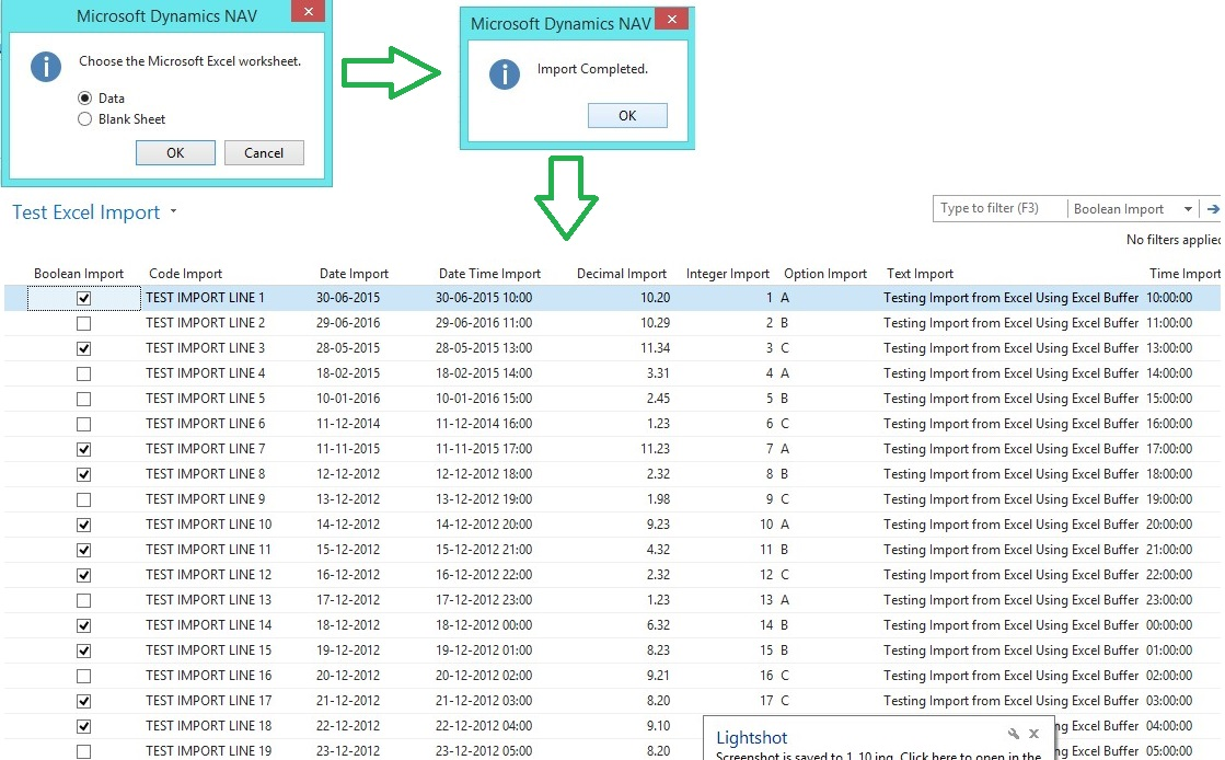 Network excel file being used