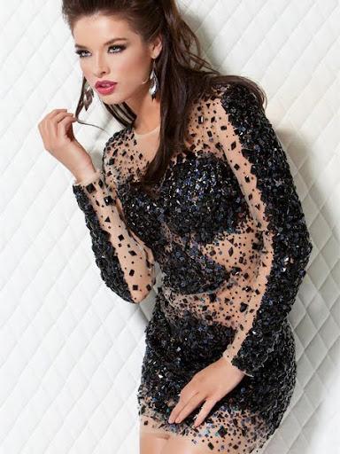 блестяща коктейлна рокля Jovani