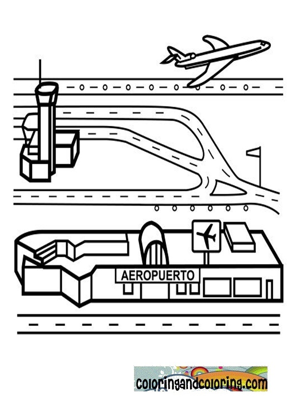 Airport Coloring Pages Galleryhipcom The Hippest Galleries