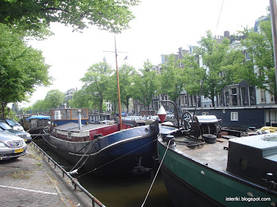 Парковка яхт в Амстердаме